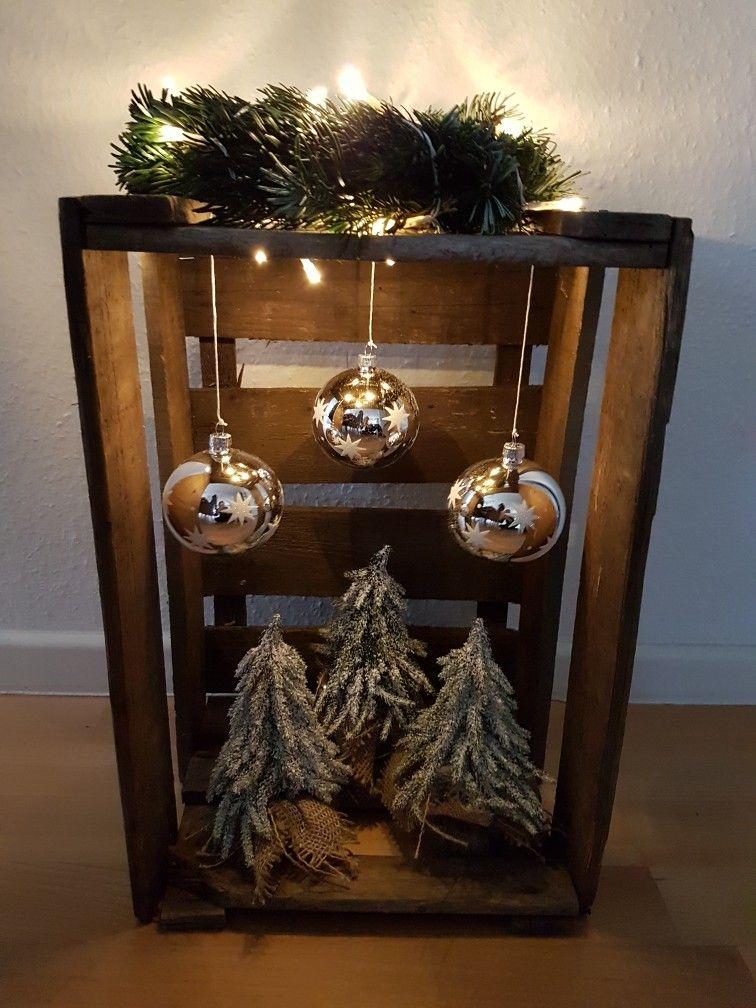 Weihnachts Deco / Weinkiste �