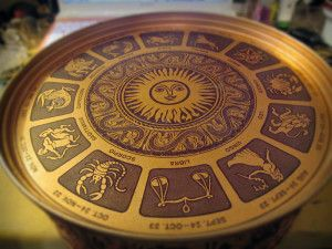 My Favorite Things - Zodiac tin. Found at a thrift store for like $2 several years ago. Woot =)