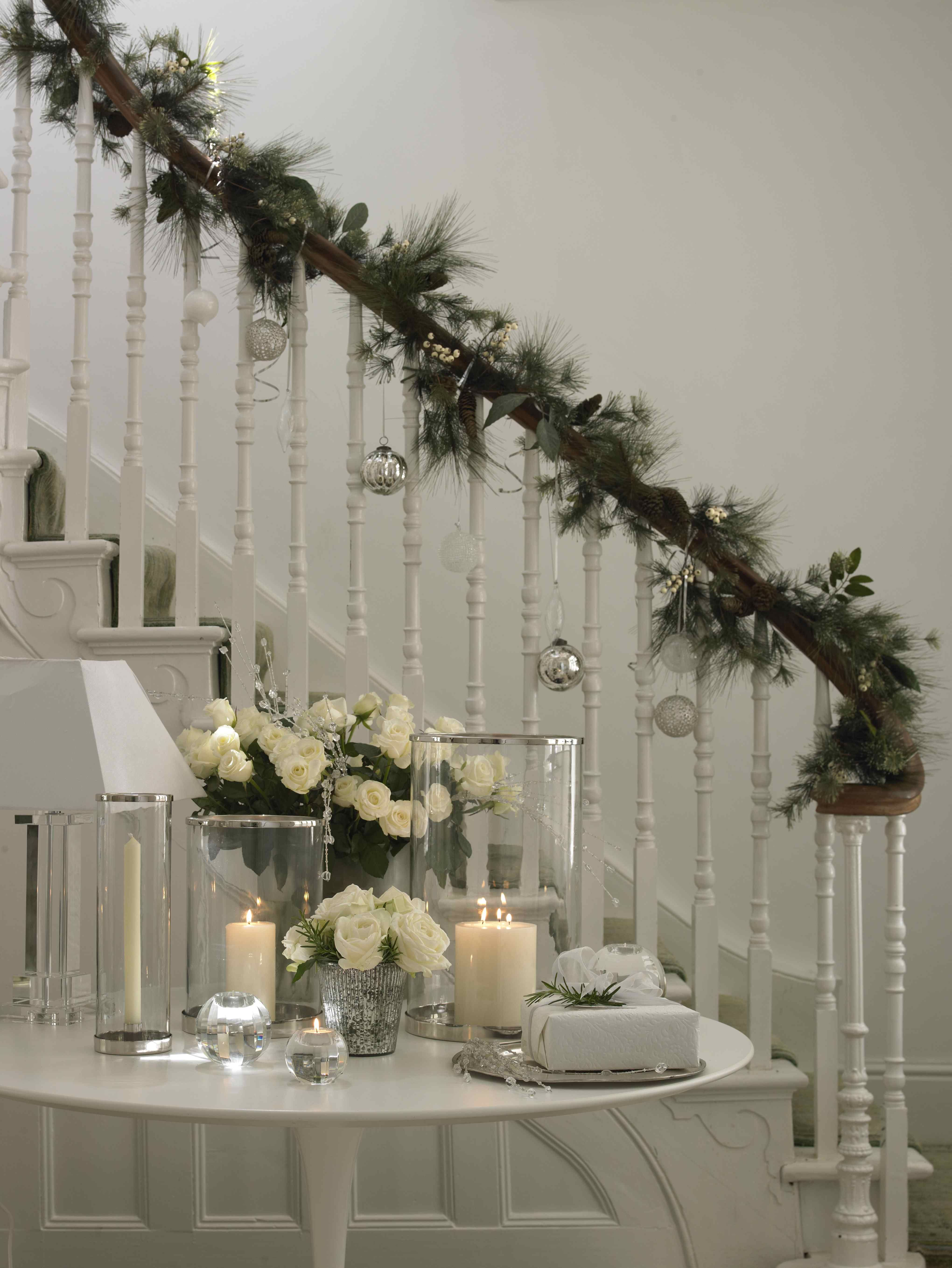 Cream hallway | Christmas hallway, Hallway decorating ...