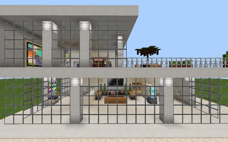 設計図 芸術的なデザインの家 家の設計図 マイクラ 建築 家