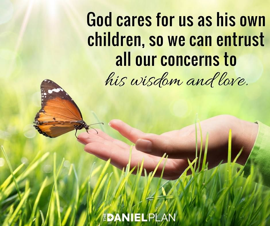 God cares for you and has your circumstances completely