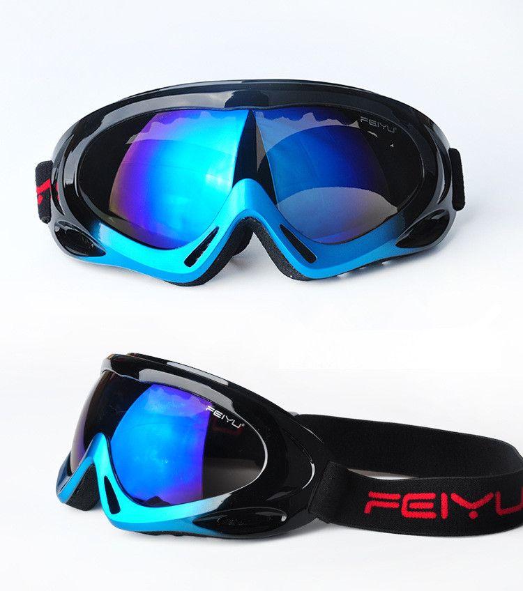 2be417549c9 2016 Profesyonel çocuk kayak gözlükleri Açık spor windbreak toz geçirmez  buğulanmaya Yetişkin kayak gözlük Erkekler kar ayna kadın. FEIYU Ski  Snowboard ...