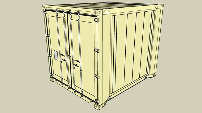 Reefer Ver B 10ft High Cube Container Reefer Container Truck Cargo Container