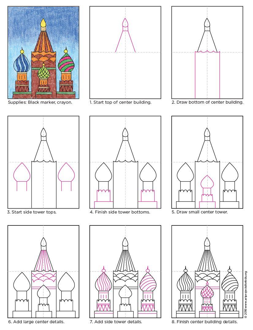 Draw Russian Buildings Free PDF Tutorial