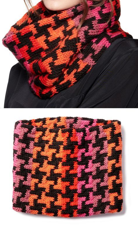 Free Knitting Pattern for 8-Stitch Repeat Houndstooth Cowl ...