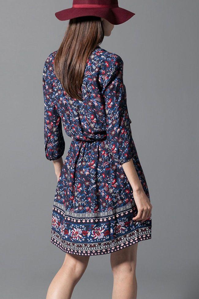 Consigue un estilo boho con lo último en vestidos florales para este otoño invierno 2014/2015