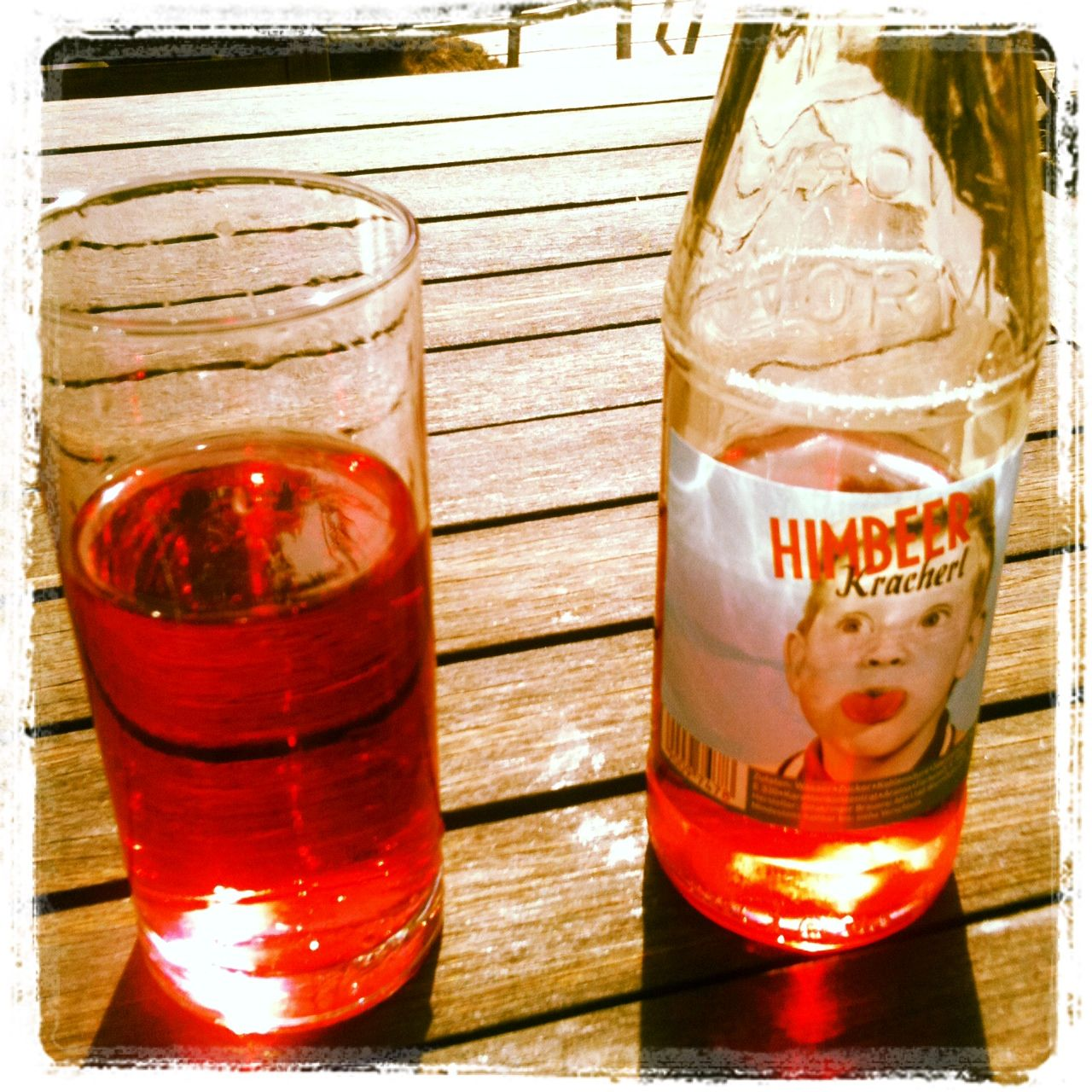 One Traditional Austrian Soft Drink I Really Like Himbeerkracherl Carbonated Raspberry Drink Raspberry Drink Wine Bottle Soft Drinks