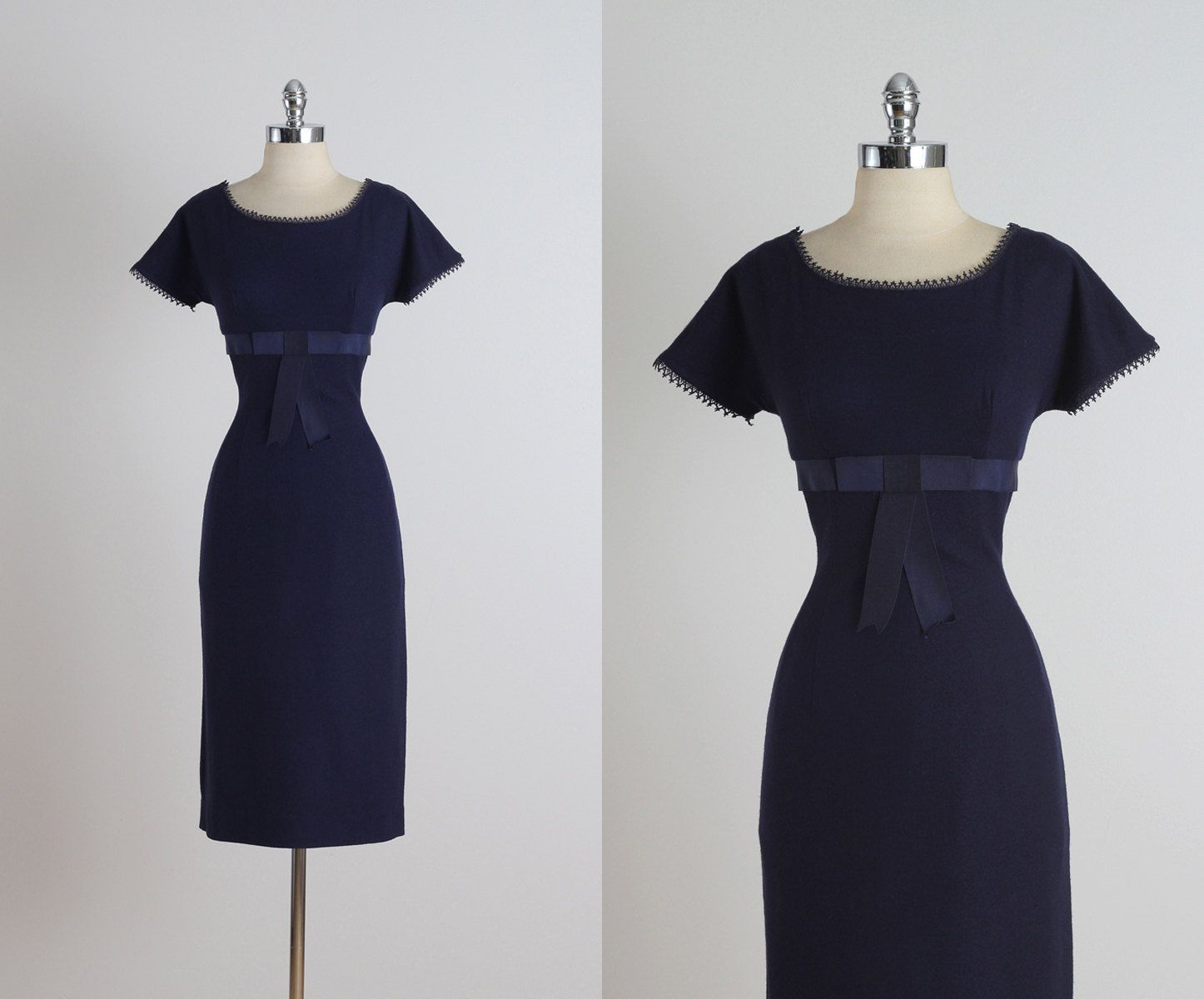 Bleu Minuit . vintage 1950s party dress . by millstreetvintage