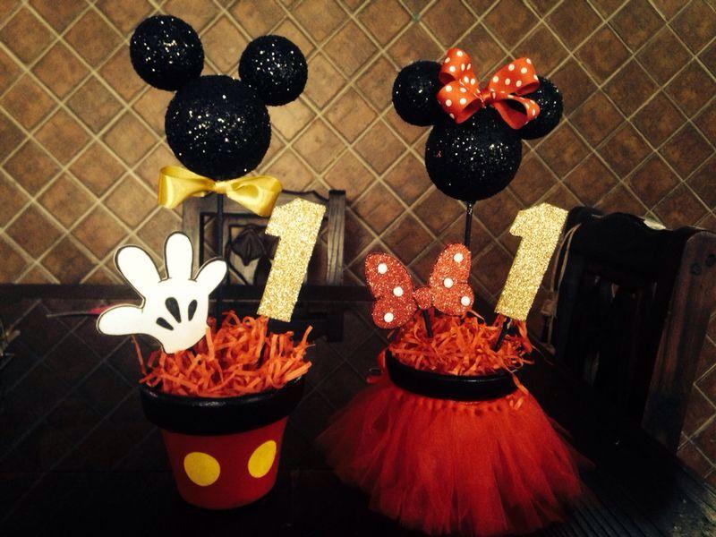 Centros de mesa Mickey Minnie moldes Pinterest Minnie, Centros