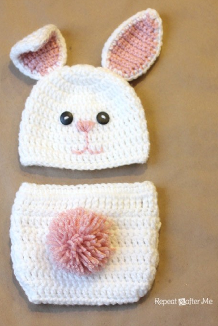 Trinity Waves Hat/Diaper Cover pattern by Lisa Dean