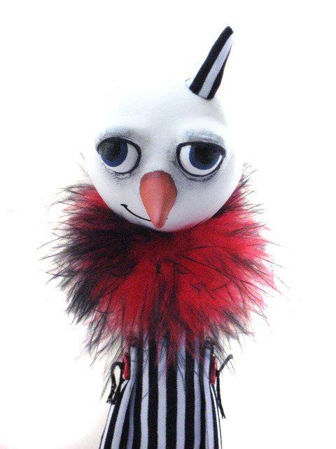 Goth Snowman - Goth Christmas - Christmas Decor - Spooky Snowman. $45.00, via Etsy.