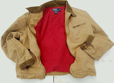 Men s Polo Ralph Lauren Canvas Barn Chore Jacket Large Brown Corduroy  Collar   Clothing, Shoes   Accessories, Men s Clothing, Coats   Jackets    eBay! bcbeef9f4c6