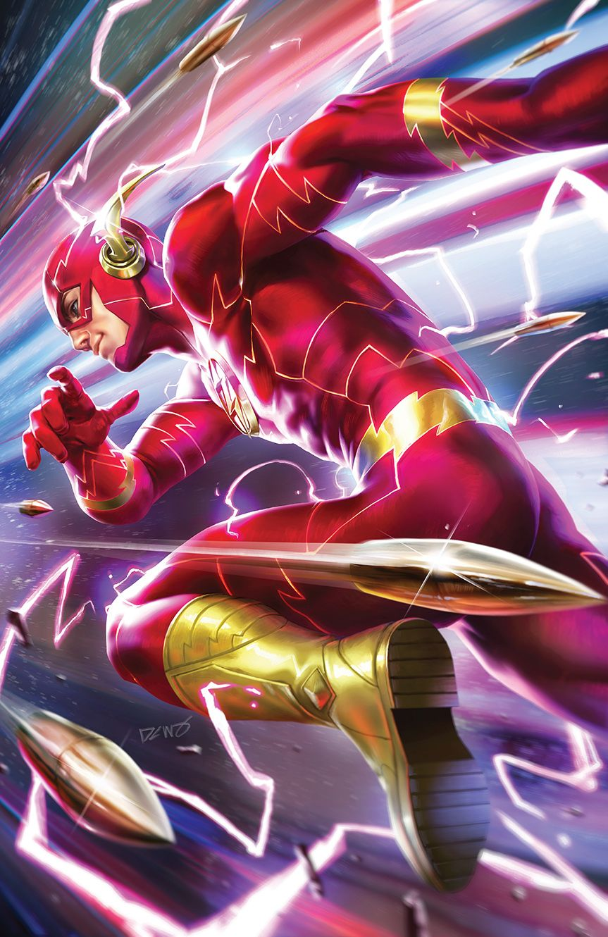 Flash 61 Variant Cover By Derrick Chew With Images Flash