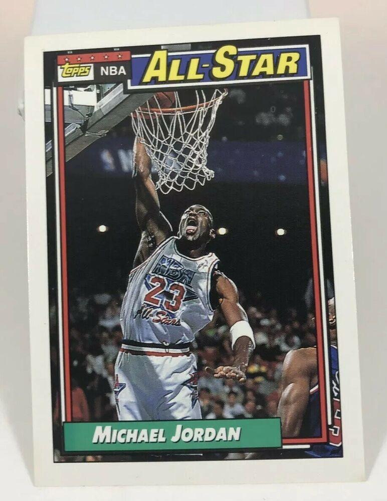 1992 topps michael jordan basketball card 115 nba allstar