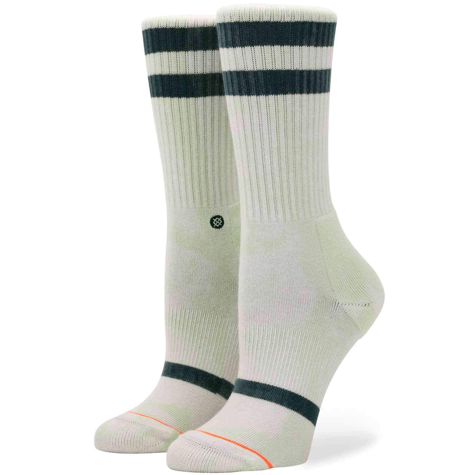 Stance Hippie Moshpit Crew Socks in Offwhite