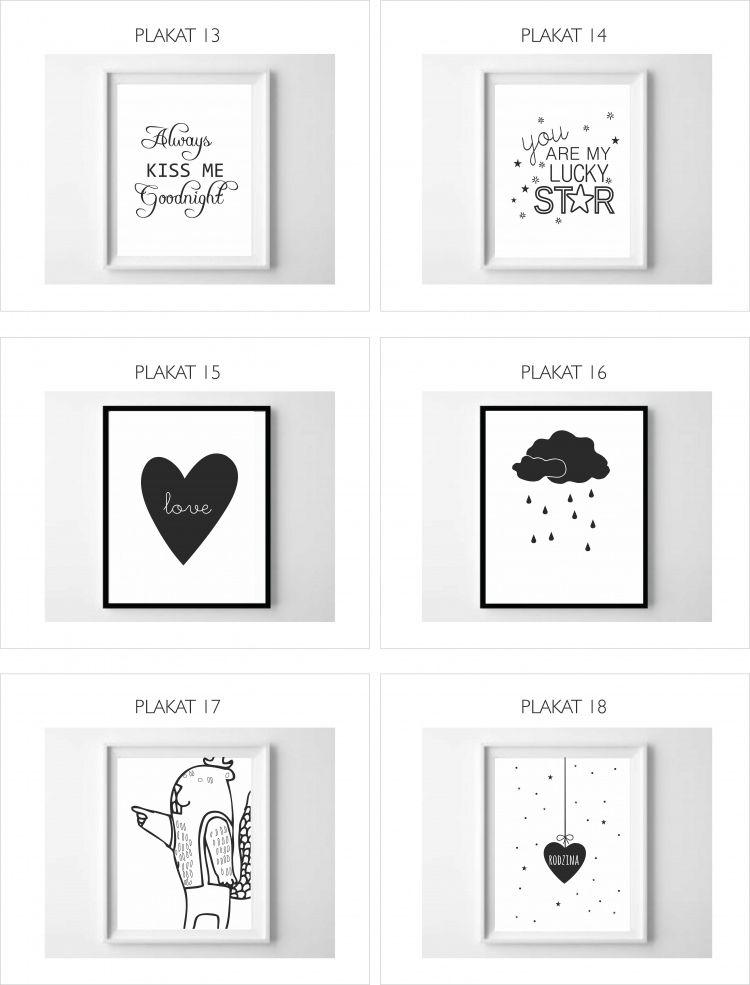 Plakaty Grafiki Cytaty Dla Dzieci 5963657675 Oficjalne Archiwum Allegro Gallery Wall 16 Love Frame