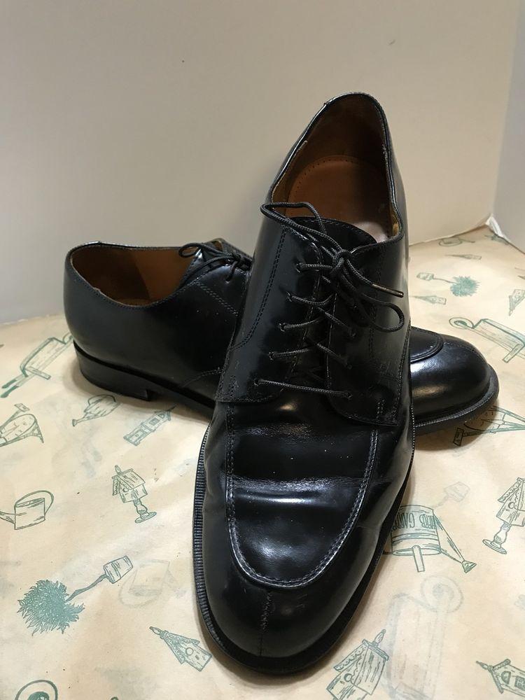 Details About Cole Haan Black Leather Lace Up Oxfords Men Shoes