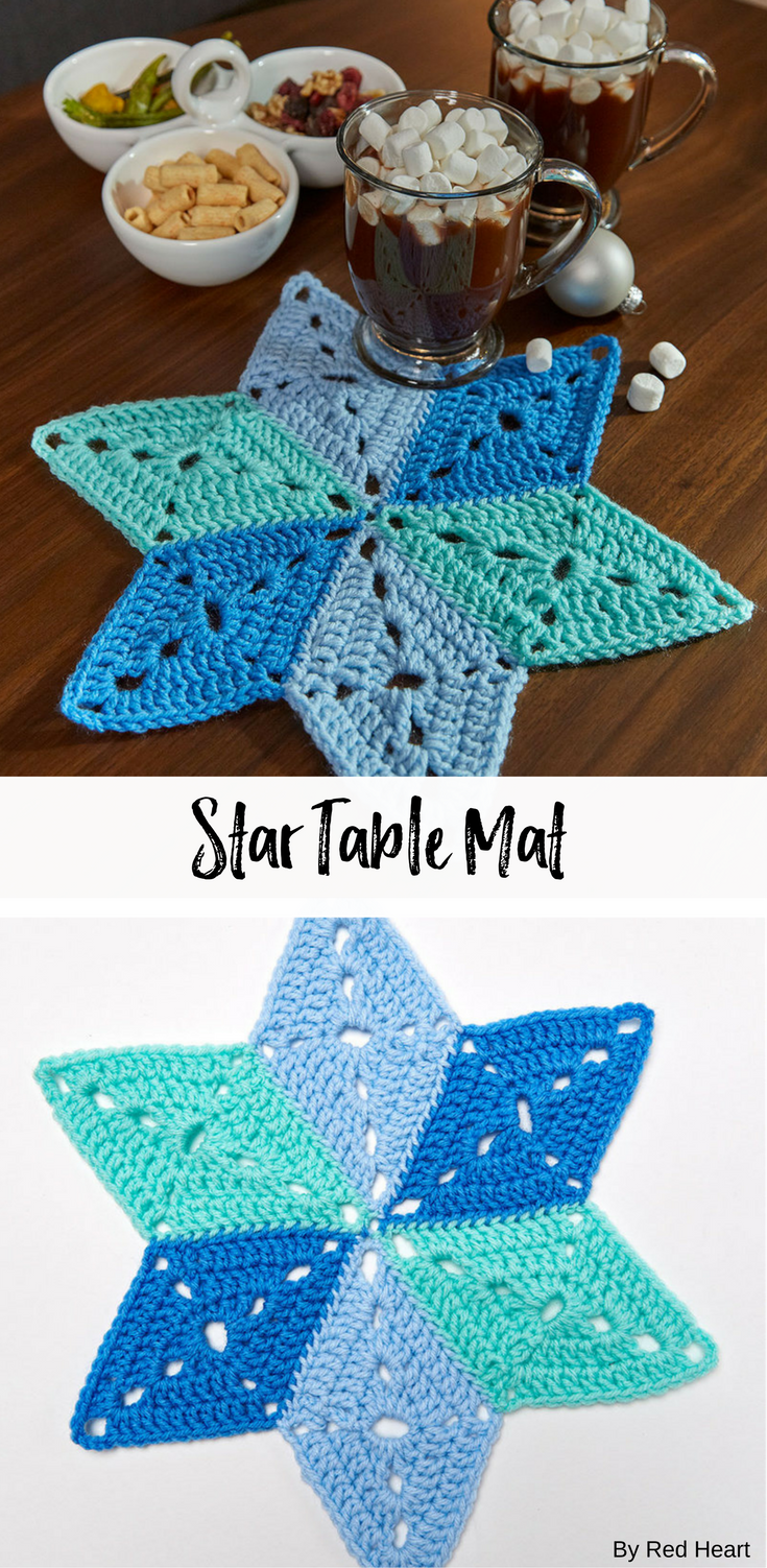 Star table mat free crochet pattern in super saver new new star table mat free crochet pattern in super saver bankloansurffo Images