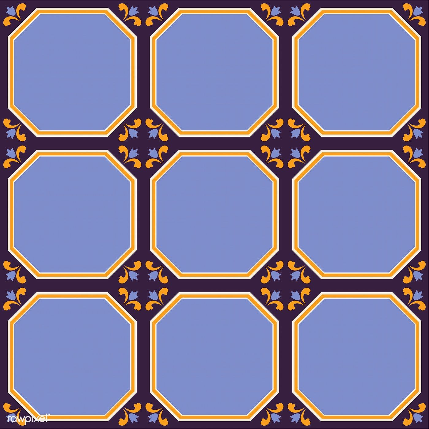 Ilration Of Tiles Textured Pattern