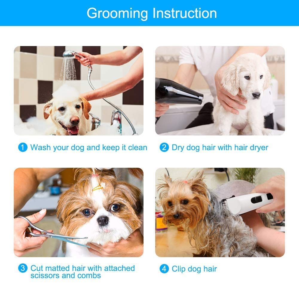 Nicewell Cat Shaver Dog Clippers Grooming Set Low Noise Electric Pet Grooming And Trimming Clippers Kit Usb Rechargeabl Dog Grooming Clippers Pet Grooming Dogs