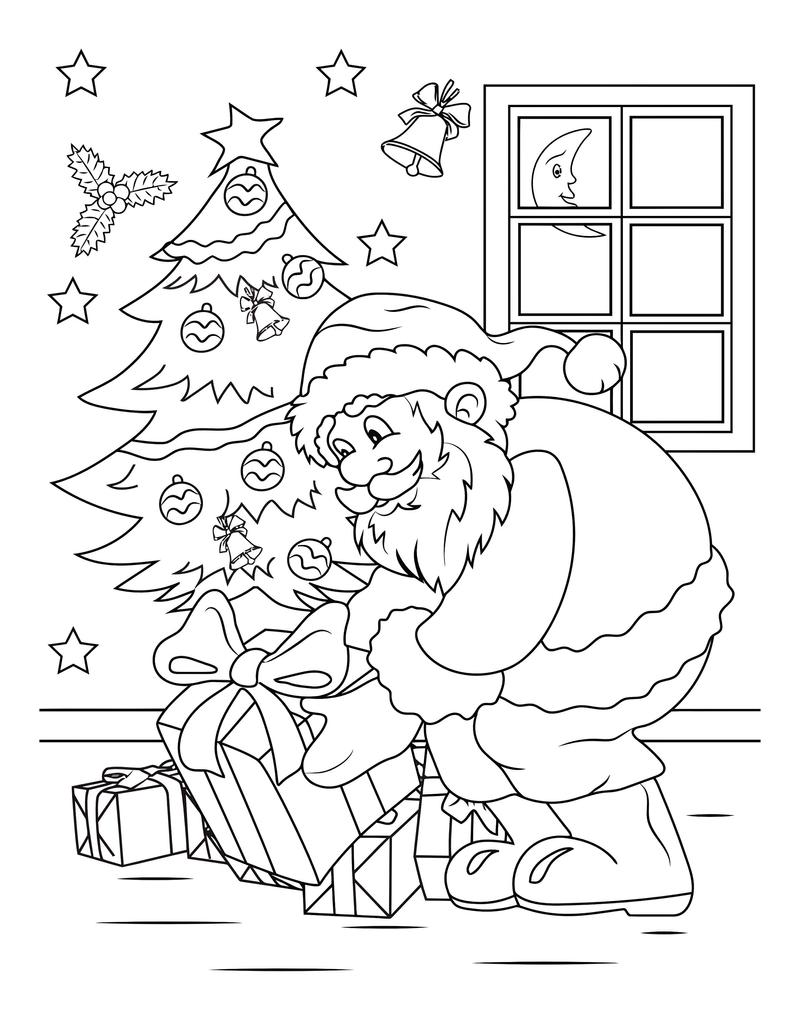 Printable Christmas Coloring Pages For Kids 60 Xmas Coloring Etsy Printable Christmas Coloring Pages Christmas Coloring Books Christmas Coloring Pages