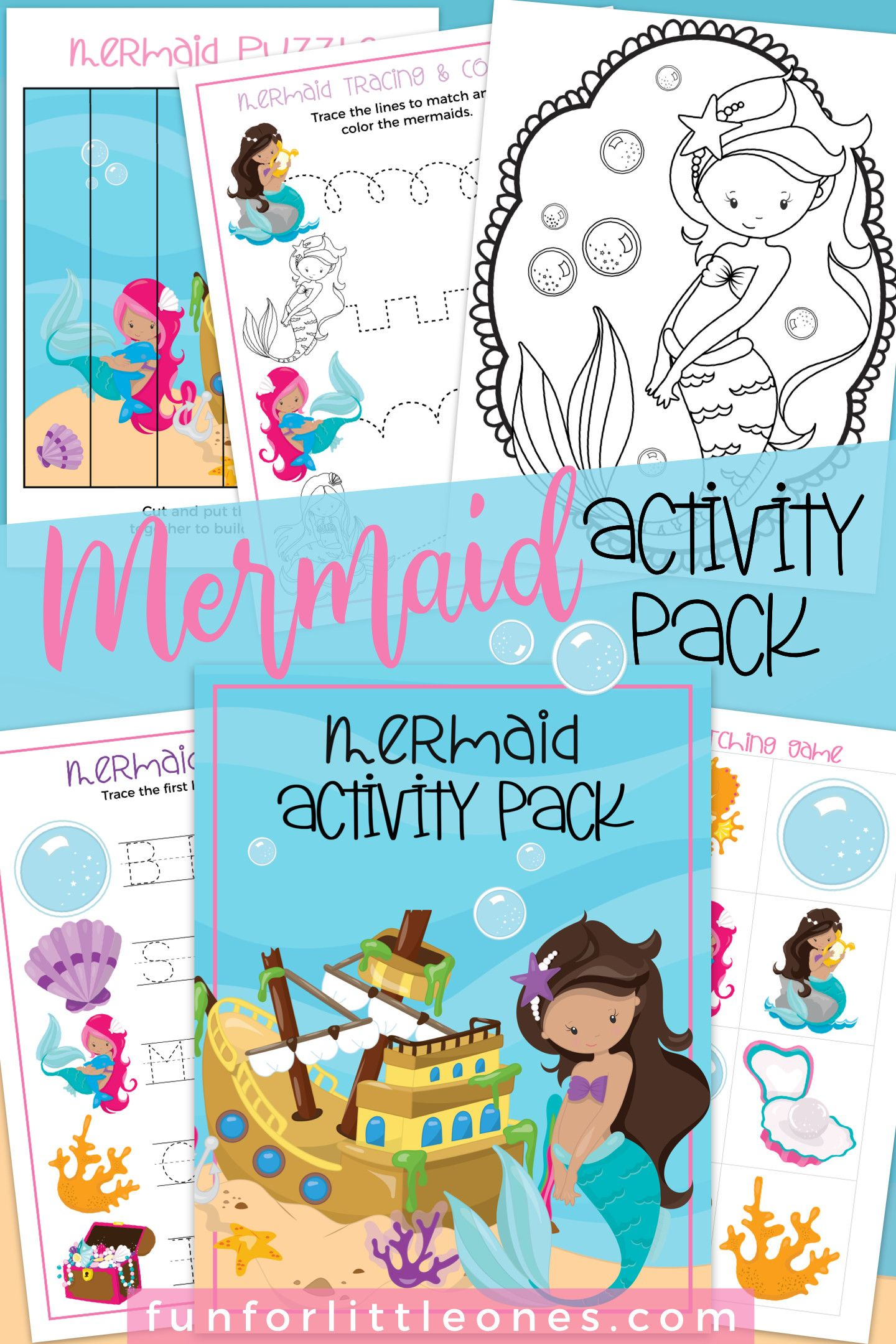 Mermaid Activities Pack Swim At Home