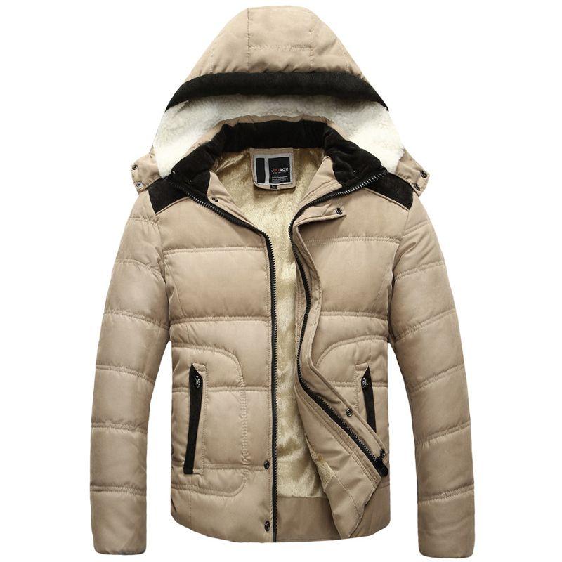 Winter jacket men European & American cotton warm mens parka ...