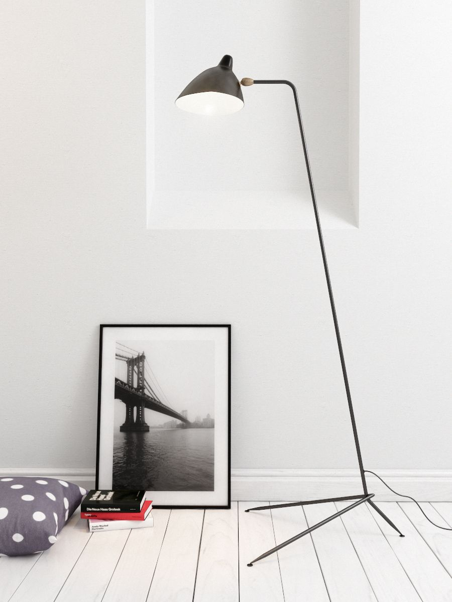 Serge mouille single bras floor lamp cult formal living room serge mouille one arm floor lamp arubaitofo Choice Image