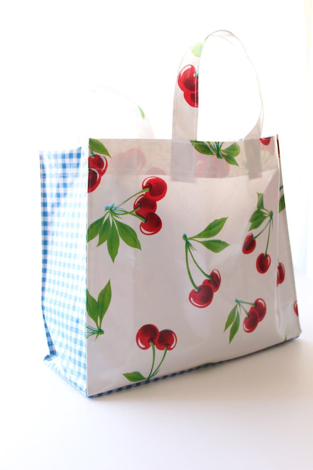 Oilcloth Shopping Bag Miss Mary Sewing Classes Bags