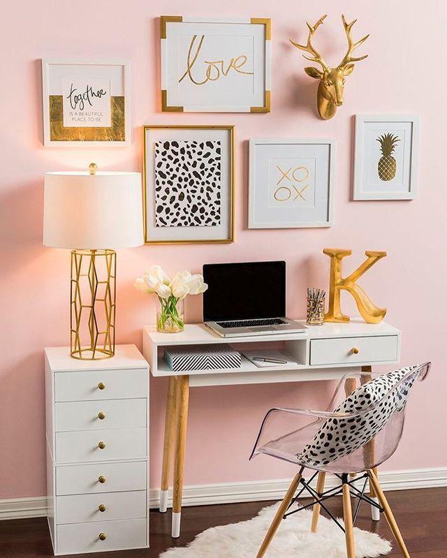 Rose Gold Desk Decor