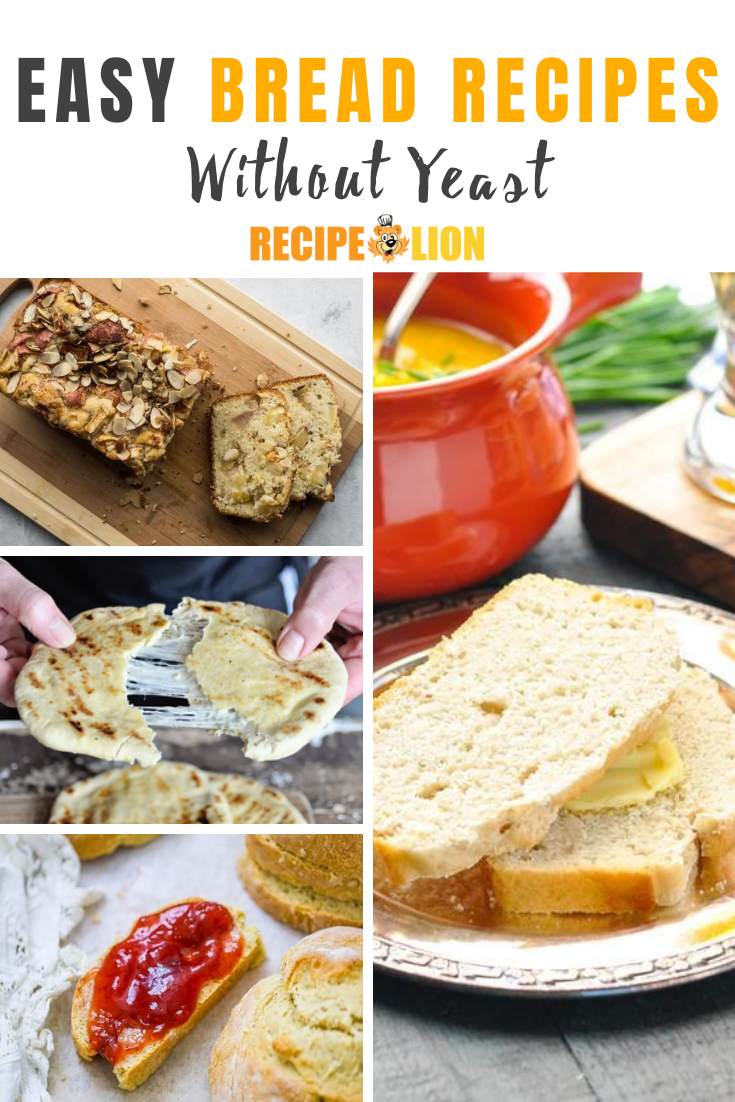 15 Easy Recipes for Bread without Yeast in 2020 | Bread ...