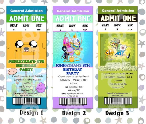 Personalized Printable Adventure Time Party Invitation