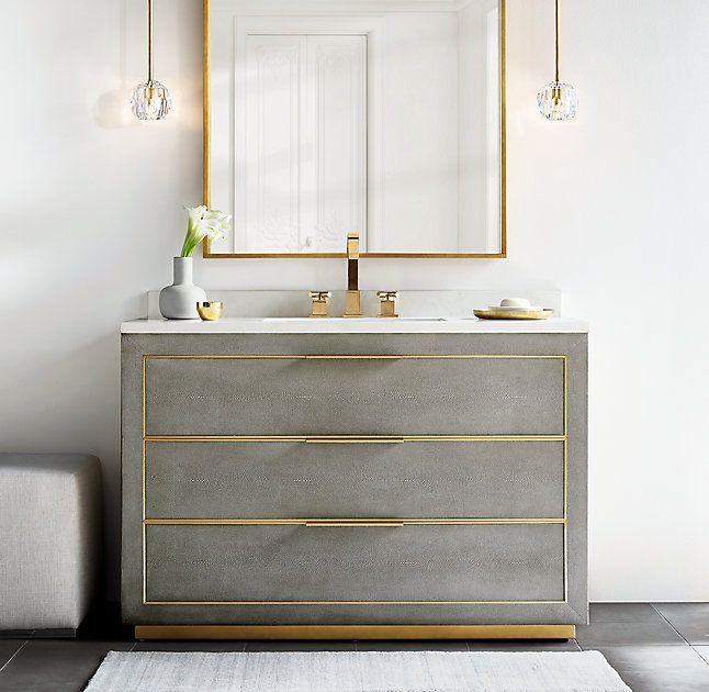 Cela Shagreen Single Vanity Bathroom Design Modern Bathroom