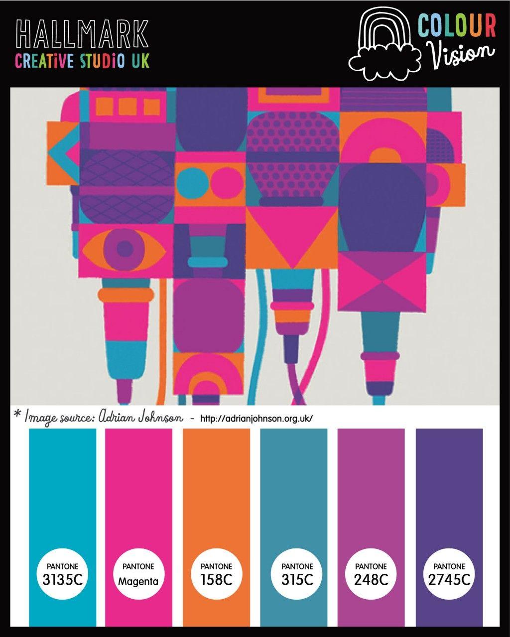 Creative Color Schemes a fun bright colour palette (inspiredadrian johnson) at