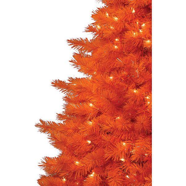 The 100 Orange Christmas Tree (4088700 IDR) ❤ liked on Polyvore
