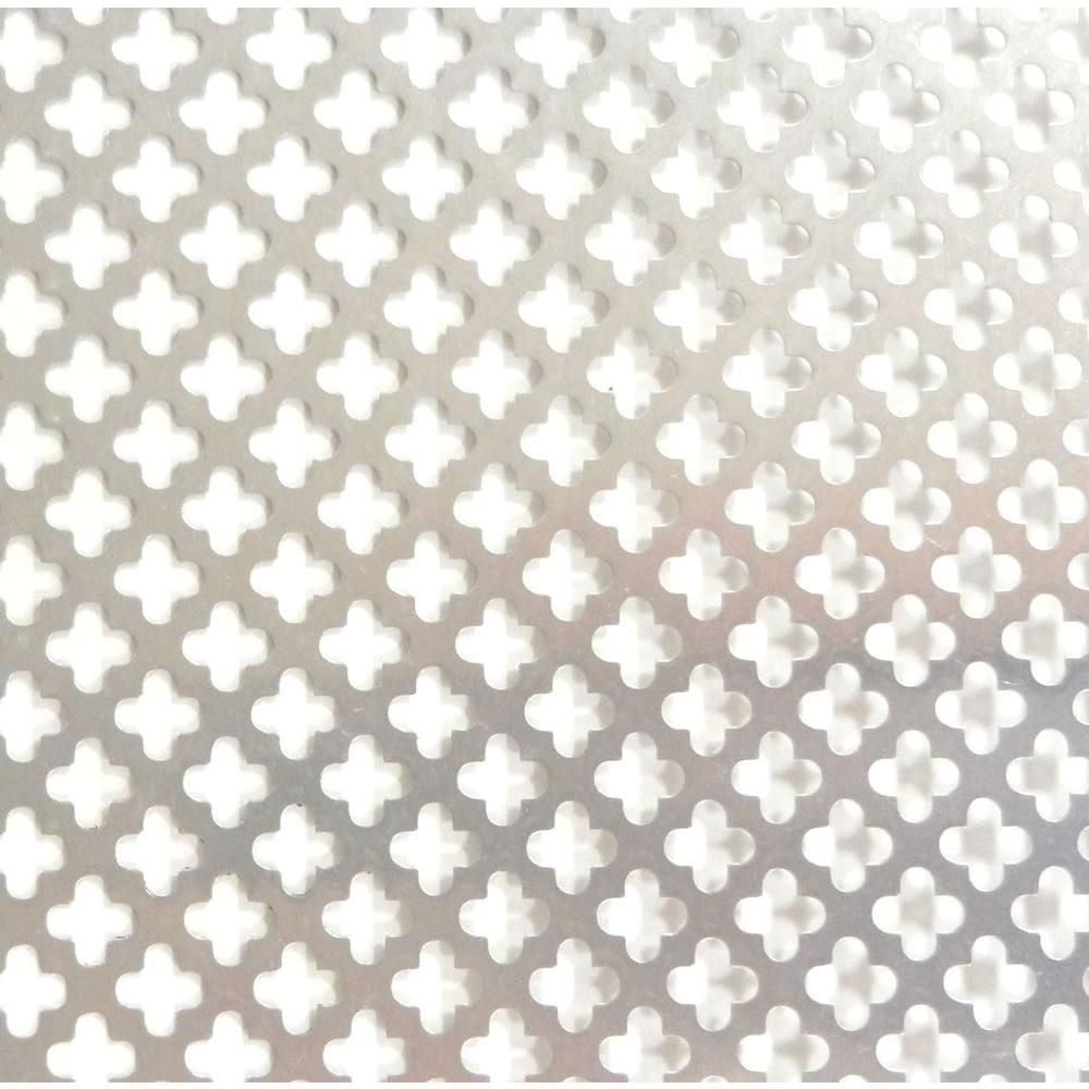 M D Building Products 36 In X 36 In Cloverleaf Aluminum Sheet Silver 57166 The Home Depot M D Building Products Outdoor Wall Decor Natural Sheets