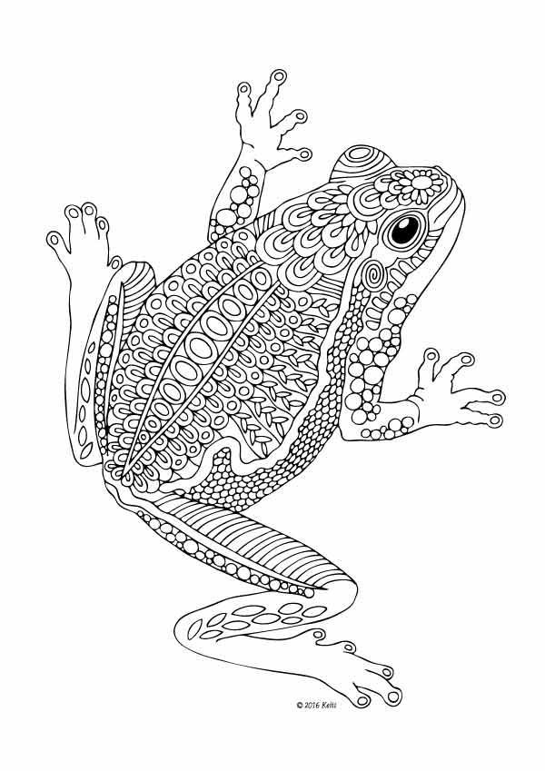 Rosnicka Adult Coloring Pages Coloring Pages Frog Coloring Pages