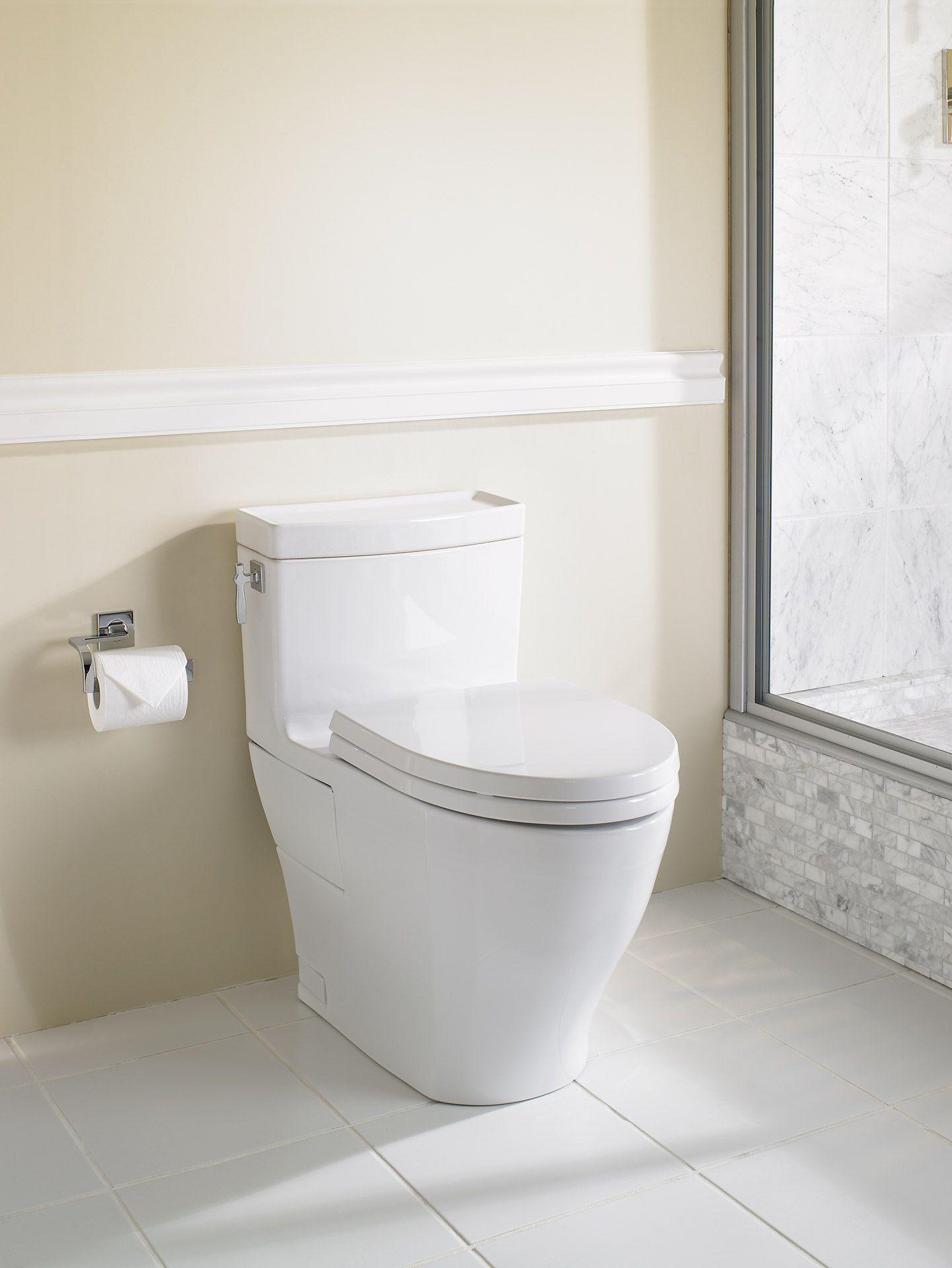 Aimes® One-Piece Toilet, 1.28GPF, Elongated Bowl - TotoUSA.com   FGG ...