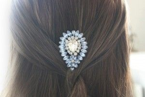 Simple hair with a pretty cliip