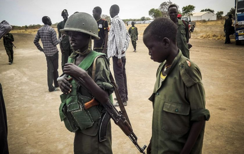 There are an estimated 9,000 child soldiers in South Sudan When it