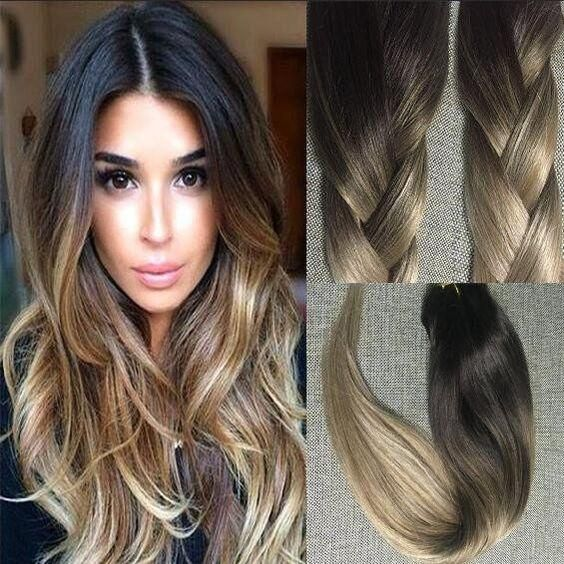 Full shine official shopping site clip in ombre balayage human 10 pcs clip in brown roots ombre clip in hair extensions 2 6 pmusecretfo Gallery