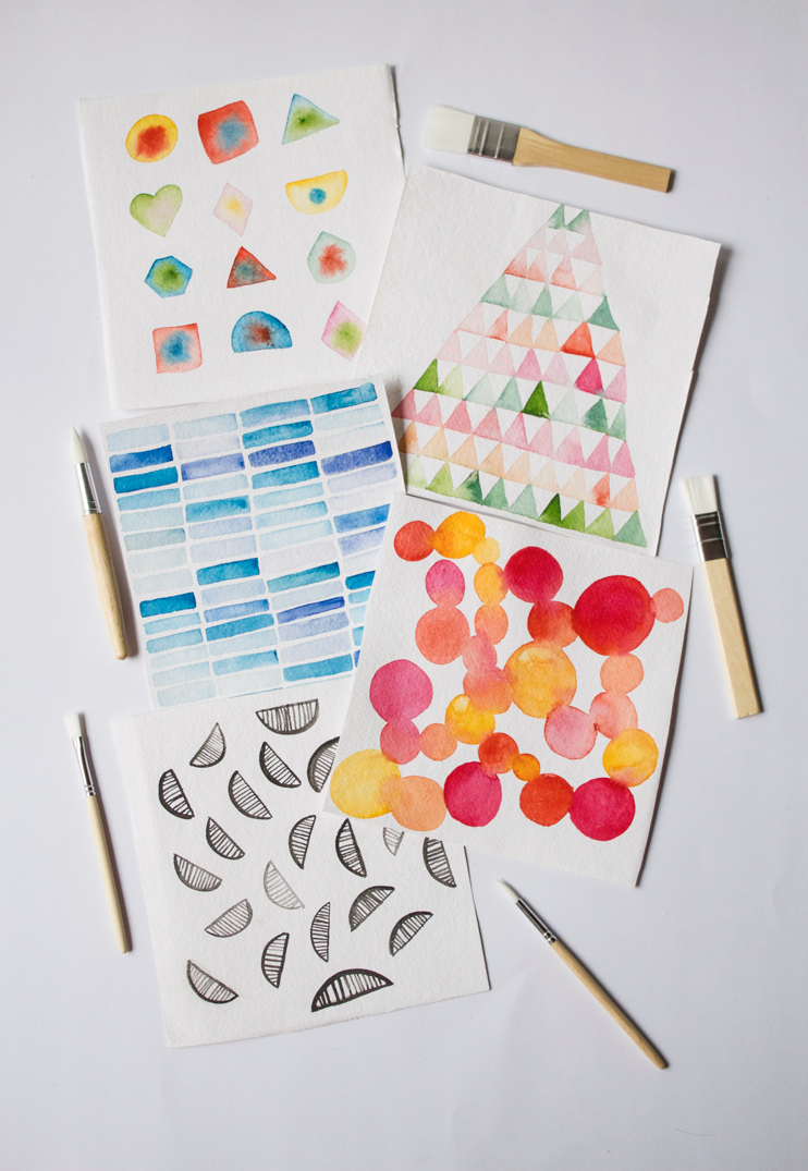 Try out watercolours Watercolours are the look right now. But they seem a little bit tricky to me. This tutorial from Aaria Baid walks you through five basic exercises to try. Her Surely Simple blog sounds like it's just the right way for a beginner creative to tackle watercolour.