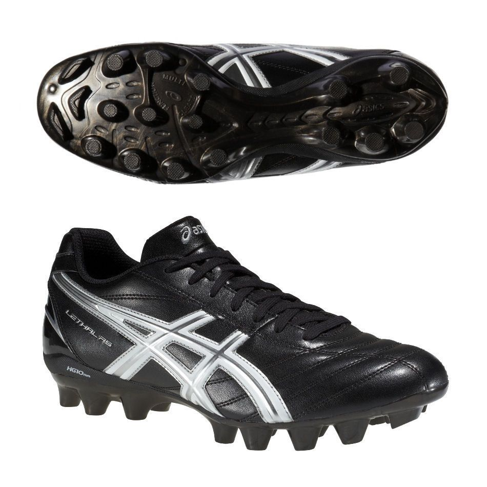 Asics Lethal RS Rugby Boots Moulded for hard ground Studs Black Snr Sizes  6-12 242f609f1adf