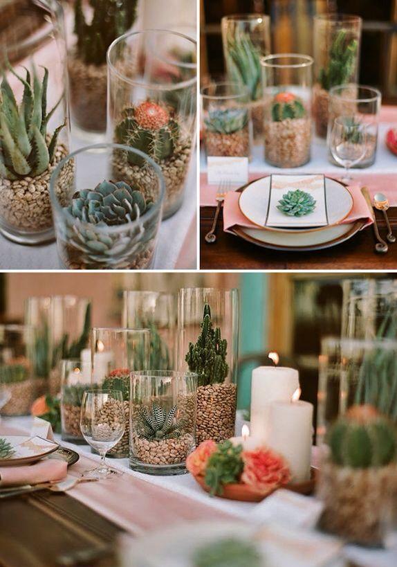Decoraci N Con Cactus Para Mesa Decorando Pinterest
