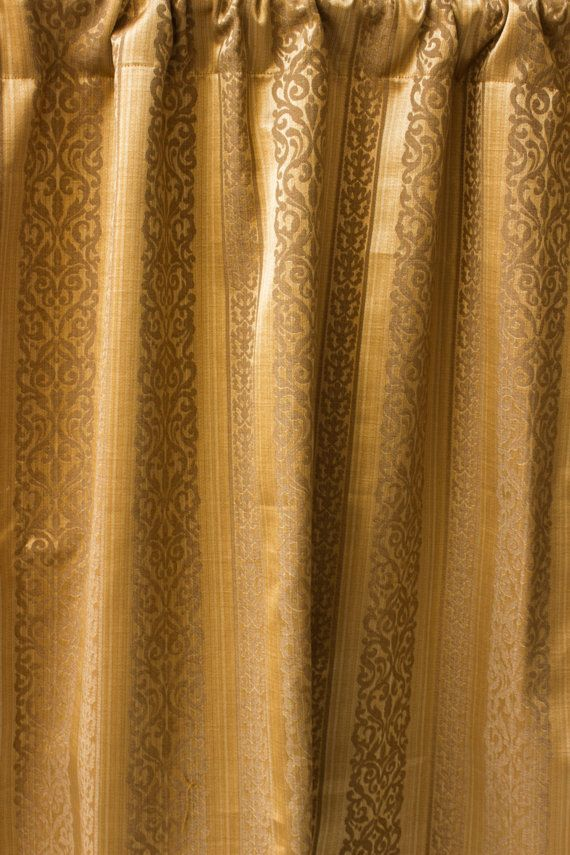 Caramel Brown Moroccan Curtain Panels Custom By Fabricasia On Etsy