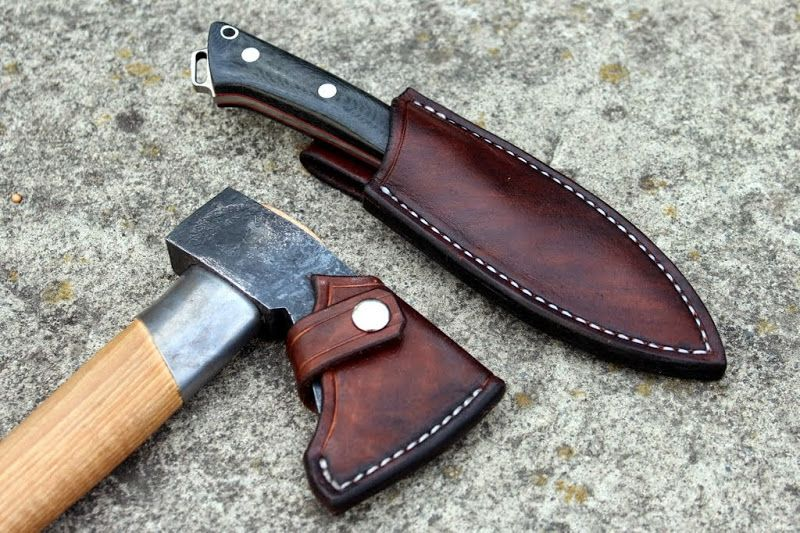 Diy Leather Sheaths For My Brkt Fox River Gransfors Bruks Outdoor Axe Diy Leather Sheath Leather Diy Leather Holster