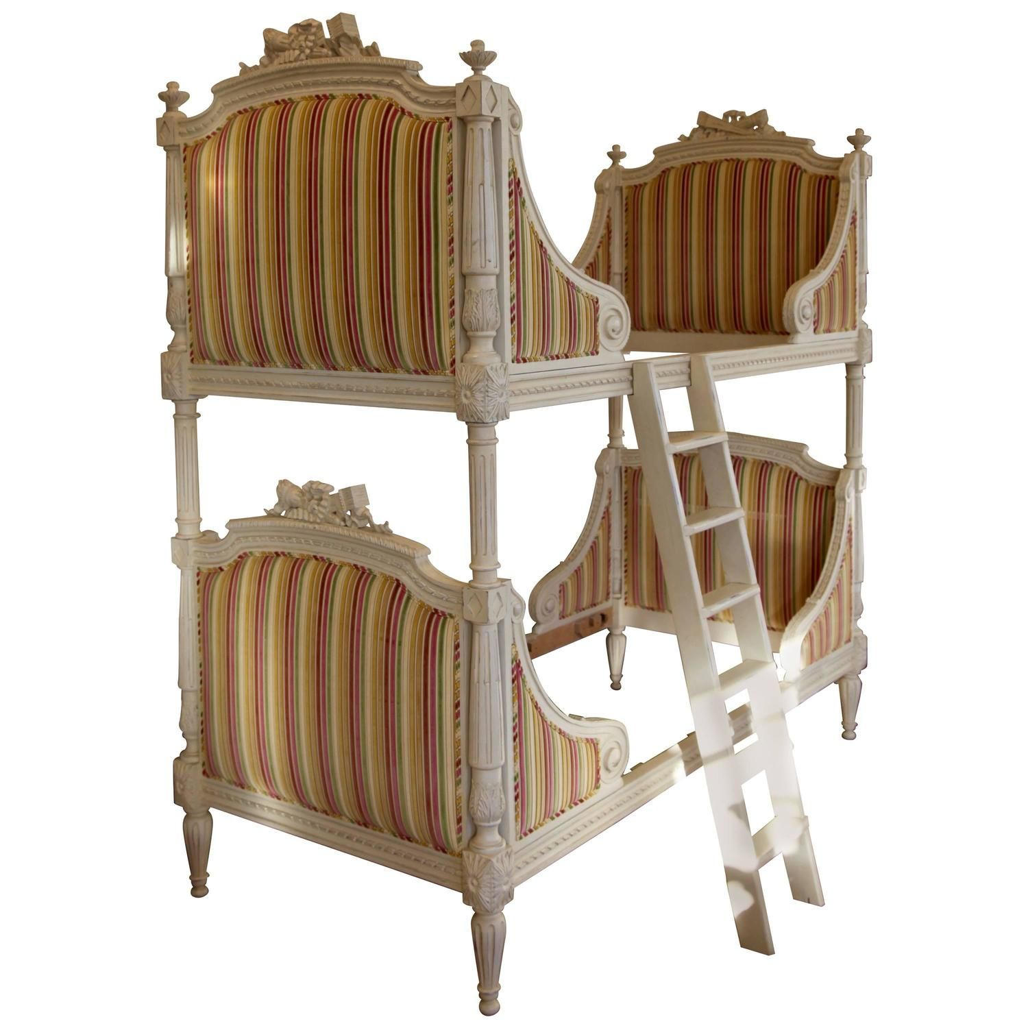 Louis XVI Style Bunk Beds Matching Pair of Single BedsLouis XVI Style Bunk Beds Matching Pair of Single Beds   Louis xvi  . Louis Style Bedroom Furniture. Home Design Ideas