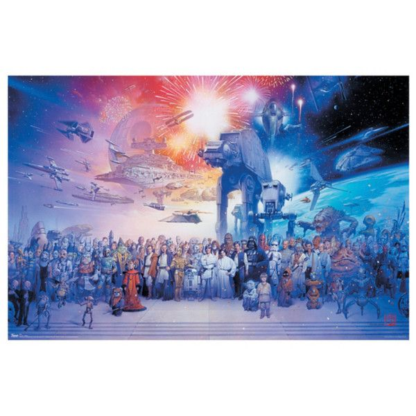 Star wars galaxy poster hot topic 6 80 ❤ liked on polyvore featuring home home posterswall postersposter printshd