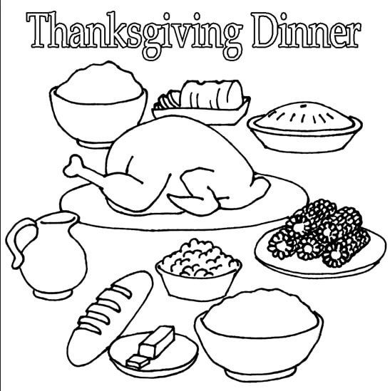 Coloring Pages Of Thanksgiving Food 66 Best Happy Thanksgiving