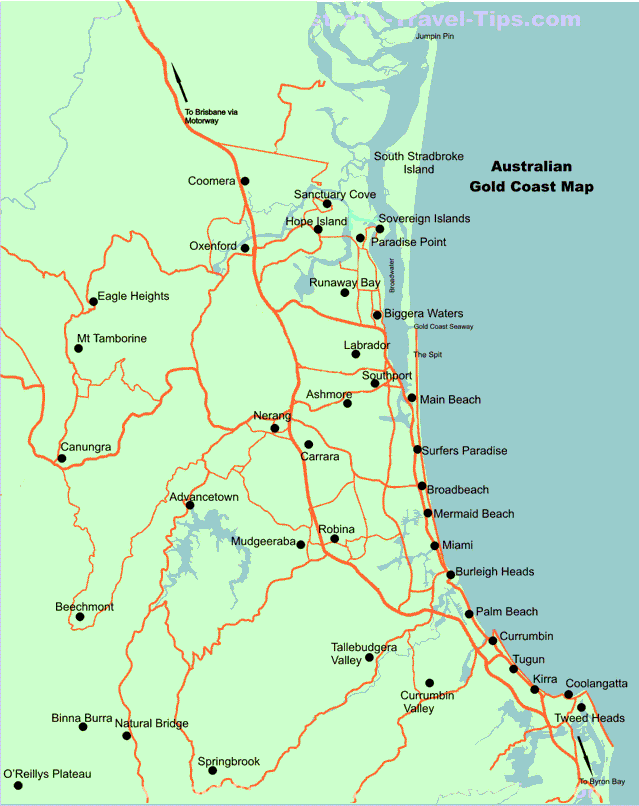 Map Of The Gold Coast | Yes! | Pinterest | Places, Coast and Map